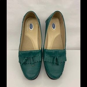 Dr. Scholl's green leather loafers sz 10